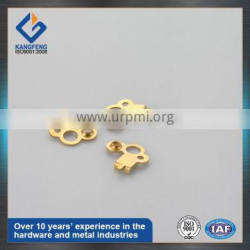 Stamped brass battery contact