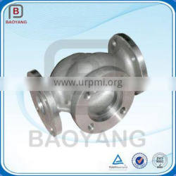 OEM green sand casting flanged 3way pipe check valve body
