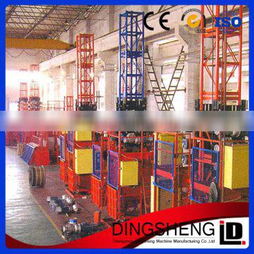 Single cage construction electric elevator