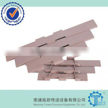 Double Hinge Plastic Flat Top Chains for Packaging Machinery