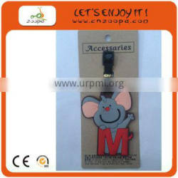 Rubber Scooter Shape hard plastic Luggage Tag