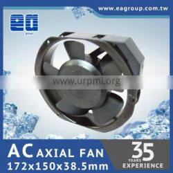 Taiwan TUV CE UL ROHS Certified Industrial Fan AC Axial Cooling Fan AC Plastic Impeller in 172x150x38.5mm with DUAL SPEED