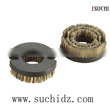 OD 50mm Butterfly Type Pressure Foot 7.0mm Bristle Cleaning Brush for CNC PCB Router Machine Wholesale Customized Acceptable