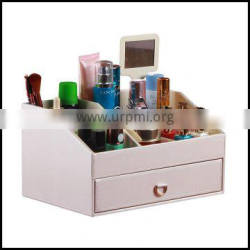 Creative multi function leather finishing bo jewelry jewelry collection and dressing table cosmetics storage bo
