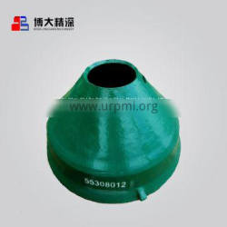 high manganese steel crusher replacement parts HP200 mantle apply to metso nordberg