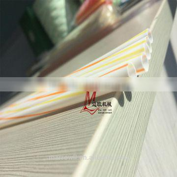 Two Color Spiral Striped Straw Making Machine