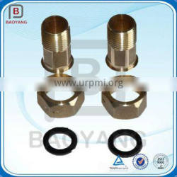 OEM CNC Machining Brass Pipe Fitting Brass Water Meter Connection