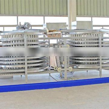 See larger image Quality Fast Frozen Machine Green Soy Bean Spiral Quick Freezing Machine fluidized quick freezing machine