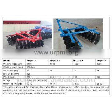 hanging medium disc harrow for Tractor, or Lawn Tractor