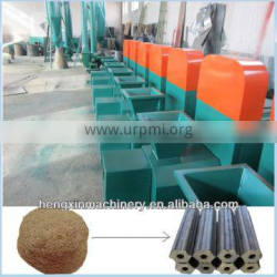 No binder hollow wood timber sawdust briquette charcoal making machinery