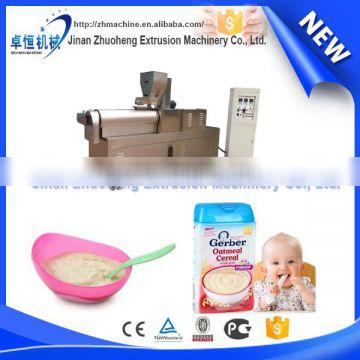 Baby rice cereal processing machines