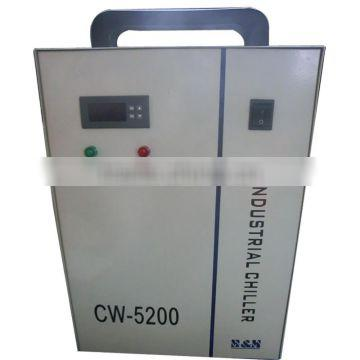 CW-5200DG industrial water chiller industrial refrigeration chiller for one piece CO2 laser tube 150W 180W