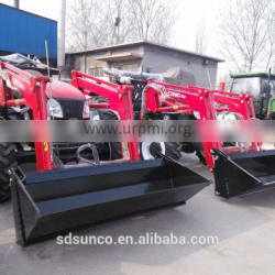 CE Standard !!Wheeled Tractor YTO-704 , 4WD Aircab Tractor with 4 in 1 front end loader