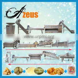 Full automatic frozen french fries maker/potato chips processing machine
