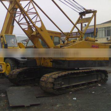 Good quality of used crawler crane KH 125 sale at lower price
