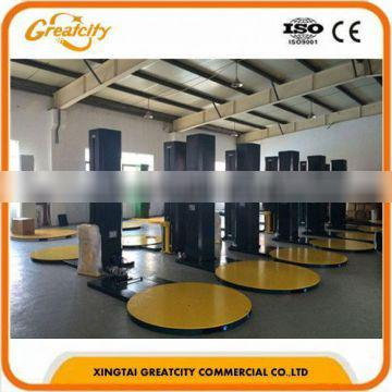 factory packaging suppliers semi automatic stretch wrapping machine