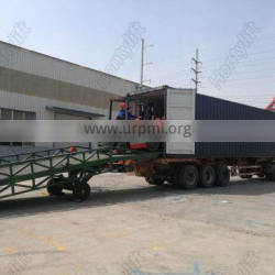 10T With adjustable supporting legs yard ramp, forklift ramp,container ramp for forklift