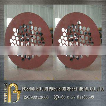 custom manufacture powder coating circular metalwork fabricated service by china supplier