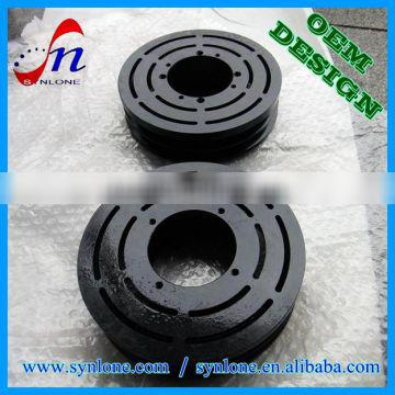 100% inspected customzied forging steel pulley with black color