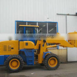 China Qingzhou 2700kg rated loading ZL27 wheel loader with wood glabber and joystick
