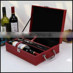 Factory direct sales of red PU leather high-end wine bo eport wine packaging bo craft gift bo