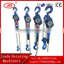 2016 new manual power source lever chain block/1.5T/3T/6T/9T/alloy steel shell VA Type Lever Hoist, Lever Block G80 steel chain