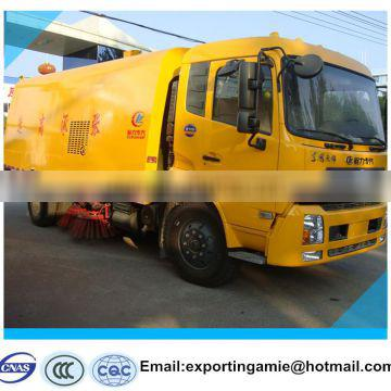 best quality dongfeng 190hp left hand drive roller brush road sweeper