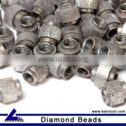 Sintered ,Vacuum Brazed, Electroplated Diamond cable beads manufacturer