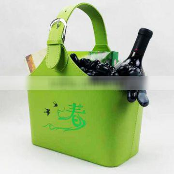 The hotel gift basket basket leather magazine can be a small order cortical storage basket gift leather hand basket