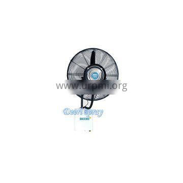 Top modern wall mounted mist water spray fan with rainproof of factory direct supply