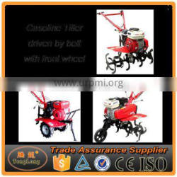 Classic Type Gasoline Powered Hand Walking Tractor Tiller With One Wheel