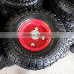 high quality competitive price pneumatic hand trolley 4.10/3.50-4 rubber wheel