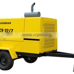 KAISHAN BRAND LGCY-12/7A energy saving Hot sale for tunnel Diesel Driven Portable Screw Air Compressor