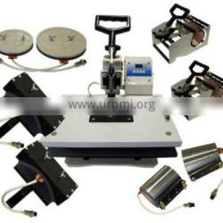 China factory sale Sublimation digital combo heat transfer press 9 in 1