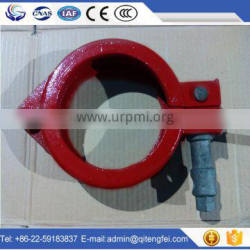 China pipe manufacture direct supply 5'' concrete pump rubber hose clamp