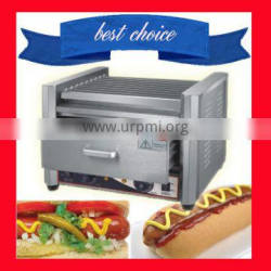 9 Roller Hot Dog Broiler/High Quality Sausage Grill with warming cabinet