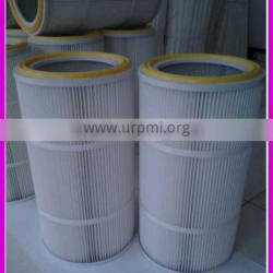 Air sweeper dust removal filter element