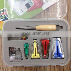 Sewing Accessories Bias Tape Maker Kit for Sewing, Quilting Awl and Binder Foot