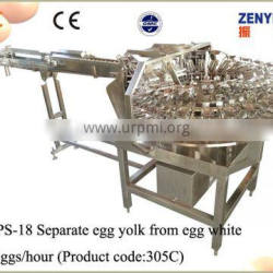 egg washing and breaking machine with separating egg white from yolk
