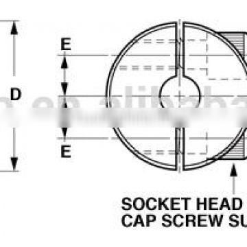 shaft accessories two pieces collar double split shaft collar