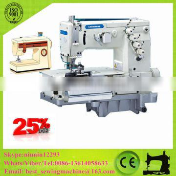 Double Needle Flat-bed Making Belt Loop with Front Cutter Trousers Ear Sewing Machine Price CS-2001C