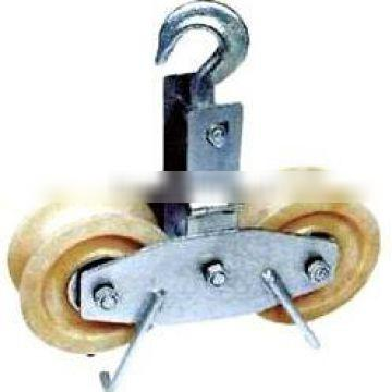 Double sheave stringing pulley