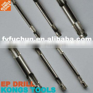 Core Drill: Electroplated Diamond Core Drill Bit - Double Top