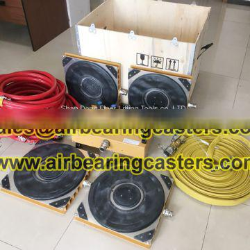 Air bearing casters durable and safe working