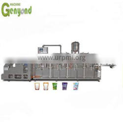 Soda water breath frozen self-supporting bag filling capping machines