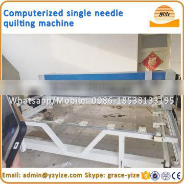 Automatic industrial single head computerized quilting machine for blanket