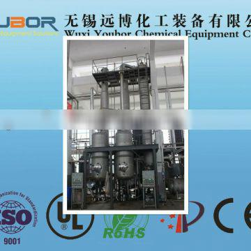 Double-effect forced circulation evaporator