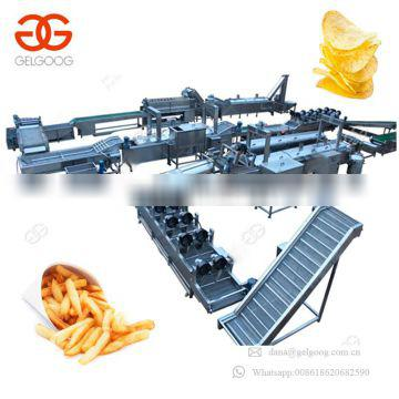 Fully Automatic Industrial Frozen French Fries Making Machine Fresh Finger Potato Chips Plant