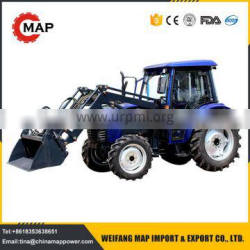4x4WD 55hp farm tractor, agricultural tractor with front end loader CE certificate