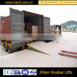 CE approved hydraulic ramp fixed Unloading platform